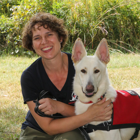 Medical Mutts director of client services Eva Rudisile