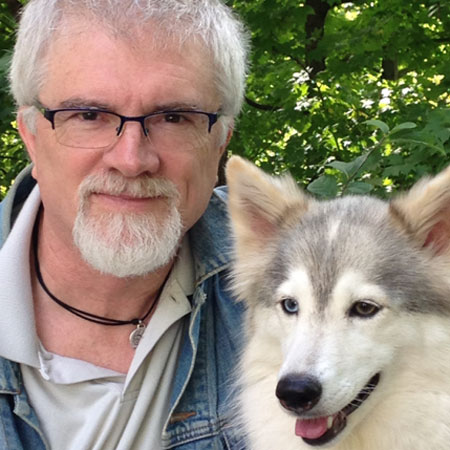 Medical Mutts cofounder Jack Topham pictured with a rescue service dog.