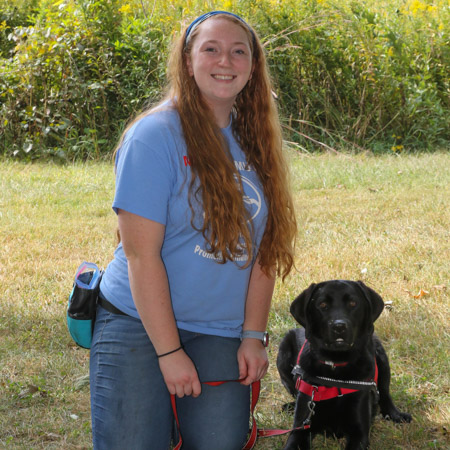 Medical Mutts trainer Leanne Sanders with a rescued service dog